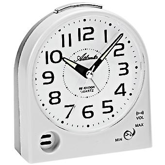Atlanta 1928/0 clock quartz analog gray quietly without ticking with white light Snooze