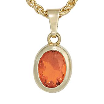 Pendants Opal pendant 585 Gold Yellow Gold 1 fire opal Red