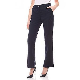 sheego ladies business pant in the straight cut blue