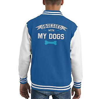 Obsessed With My Dogs Kid's Varsity Jacket