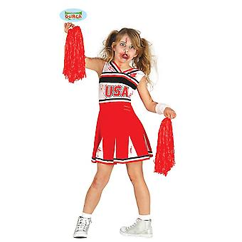 Guirca zombie cheerleader kostyme for jenter Carnival Halloween barn drakt