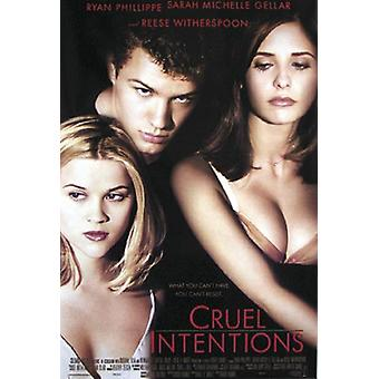 Cruel intentions poster Ryan Phillipe, Sarah Michelle Gellar
