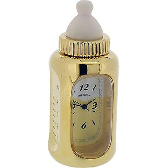Gift Time Products Baby Bottle Miniature Clock - Gold