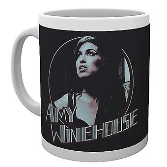 Amy Winehouse Mug Retro Badge Portrait Logo Back to Black new Official White