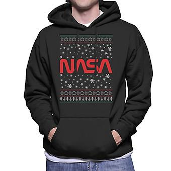 La Navidad de 1975-1992 insignia de la NASA sudadera con capucha de los hombres de punto
