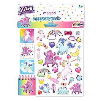 Pixie Pony Einhorn geschwollene Sticker Lesezeichen Block Sticker
