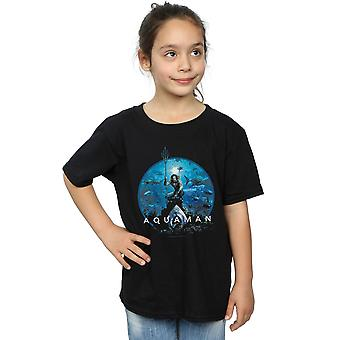 DC Comics Girls Aquaman Circle Poster T-Shirt