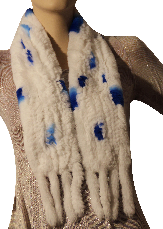 Waooh - Fashion - rabbit fur scarf rex knitted with tassel
