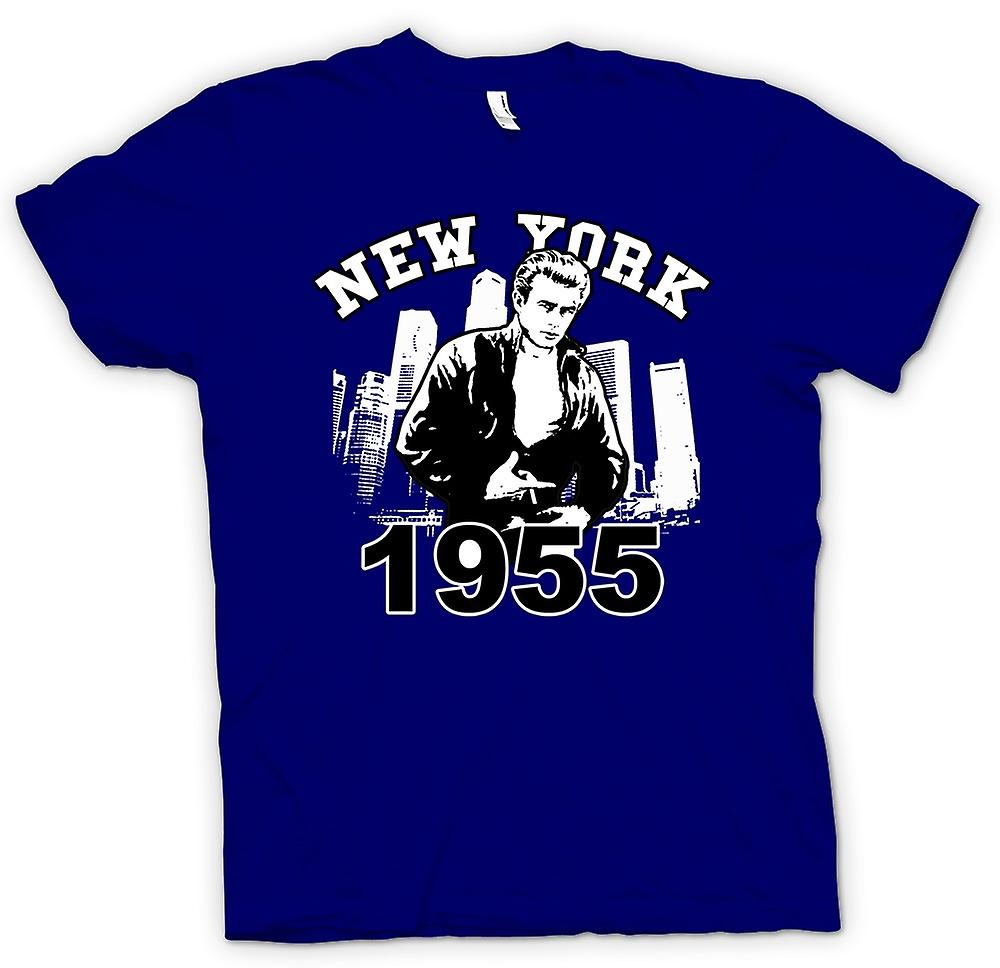 Heren T-shirt - James Dean NYC 1955 - filmpictogram