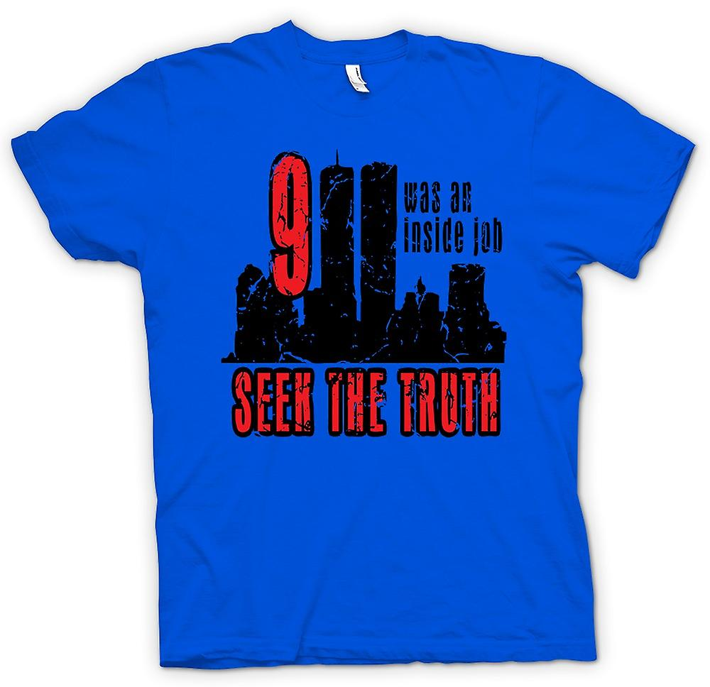 Heren T-shirt - 911 Inside Job - waarheid Conspiracy