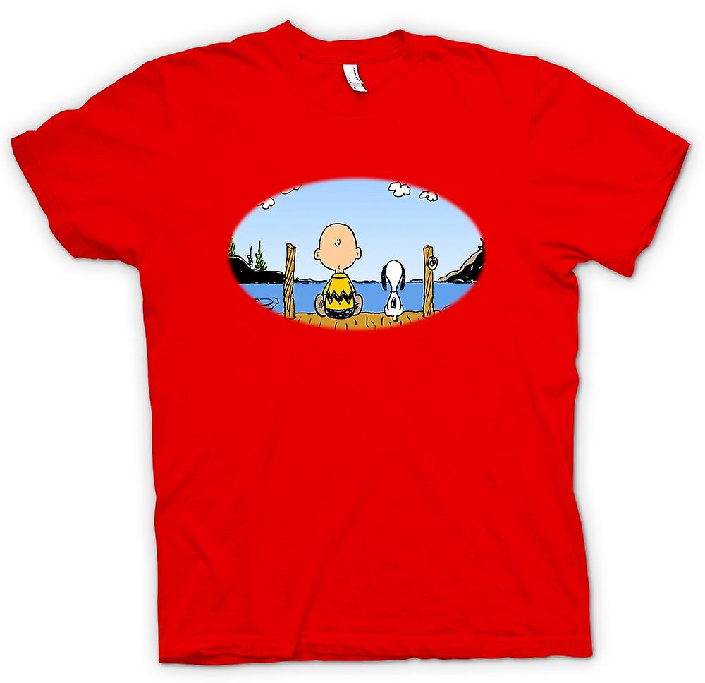 T-shirt des hommes - Snoopy - Cartoon