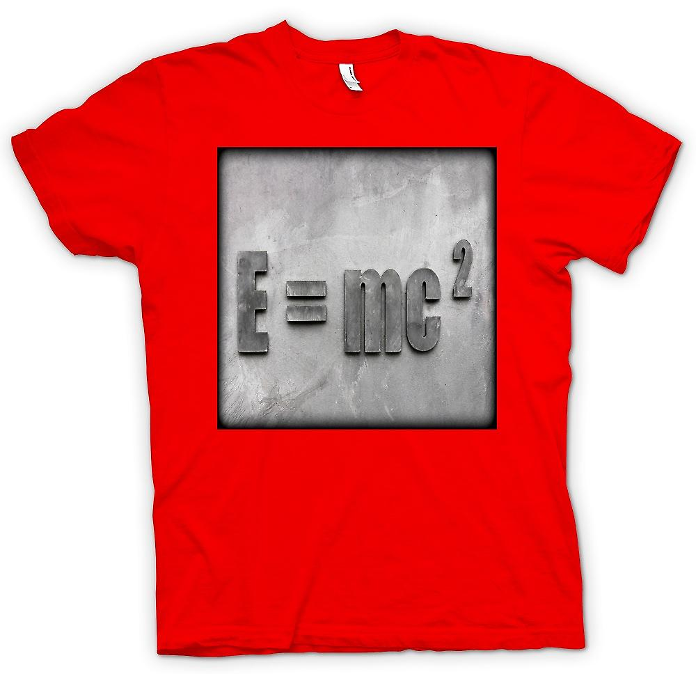 Mens T-shirt-Einstein E = MC2
