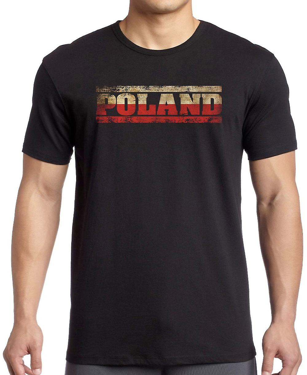 Polen Pools Flag - woorden T Shirt