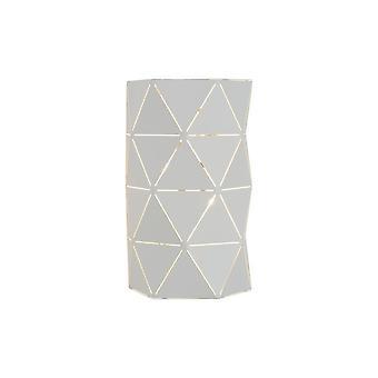 Lucide Otona Modern Half-Round Metal White Wall Light