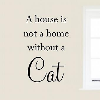 Wall Art Sticker - Cat Quote