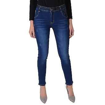 Lovemystyle Blue Denim Low Waist Skinny Jeans