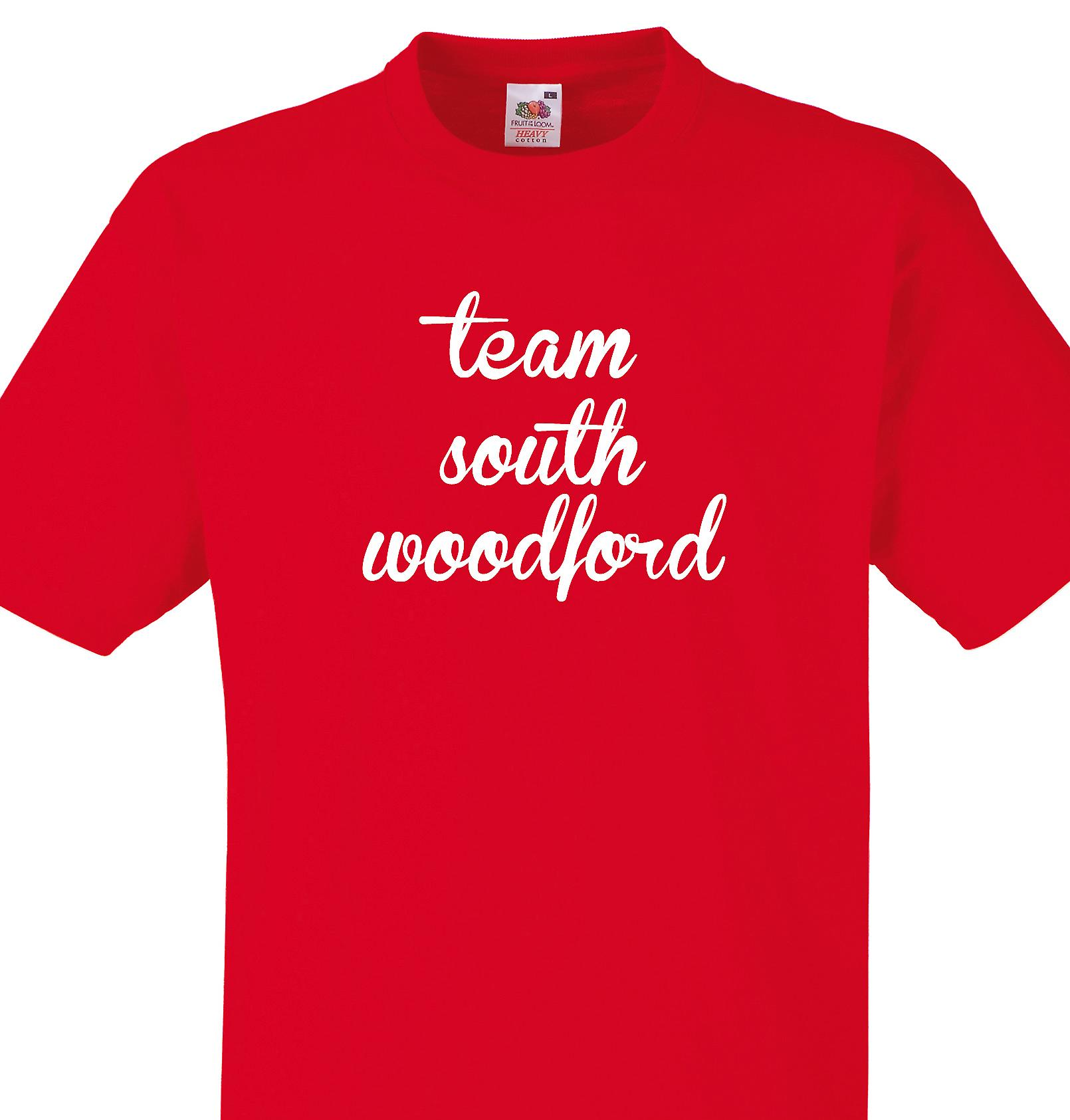Team South woodford Red T shirt