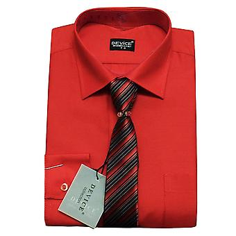 Boys Red Shirt and Tie Set
