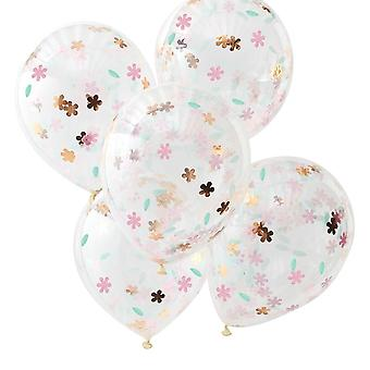 Ditsy Floral Confetti Balloons x 5 Birthday Party Decoration