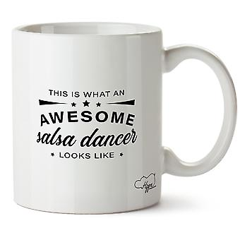 Hippowarehouse This Is What An Awesome Salsa Dancer Looks Like Printed Mug Cup Ceramic 10oz