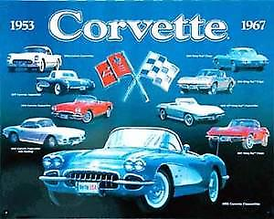 Corvette Collection Steel Sign
