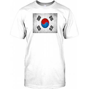 South Korean Grunge Flag Mens T Shirt
