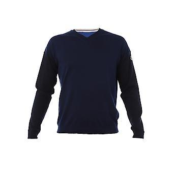 Moncler Blue Cotton Sweater