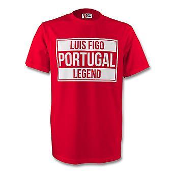 Luis Figo Portugalia legendy Tee (czerwony)
