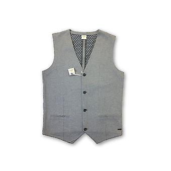 Olyp Level5 Body Fit waistcoat in grey icro rectangle