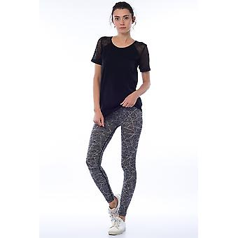 Jerf- Womens-ayon -grey Melange - Active Leggings