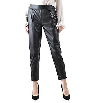 Boutique Moschino Black Leather Pants
