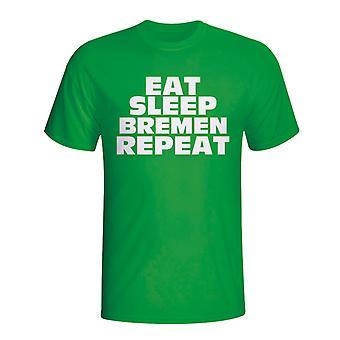 Eat Sleep Werder Bremen Repeat T-shirt (green) - Kids