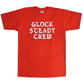 Skurkar & slott Glck Steady T-Shirt True Red