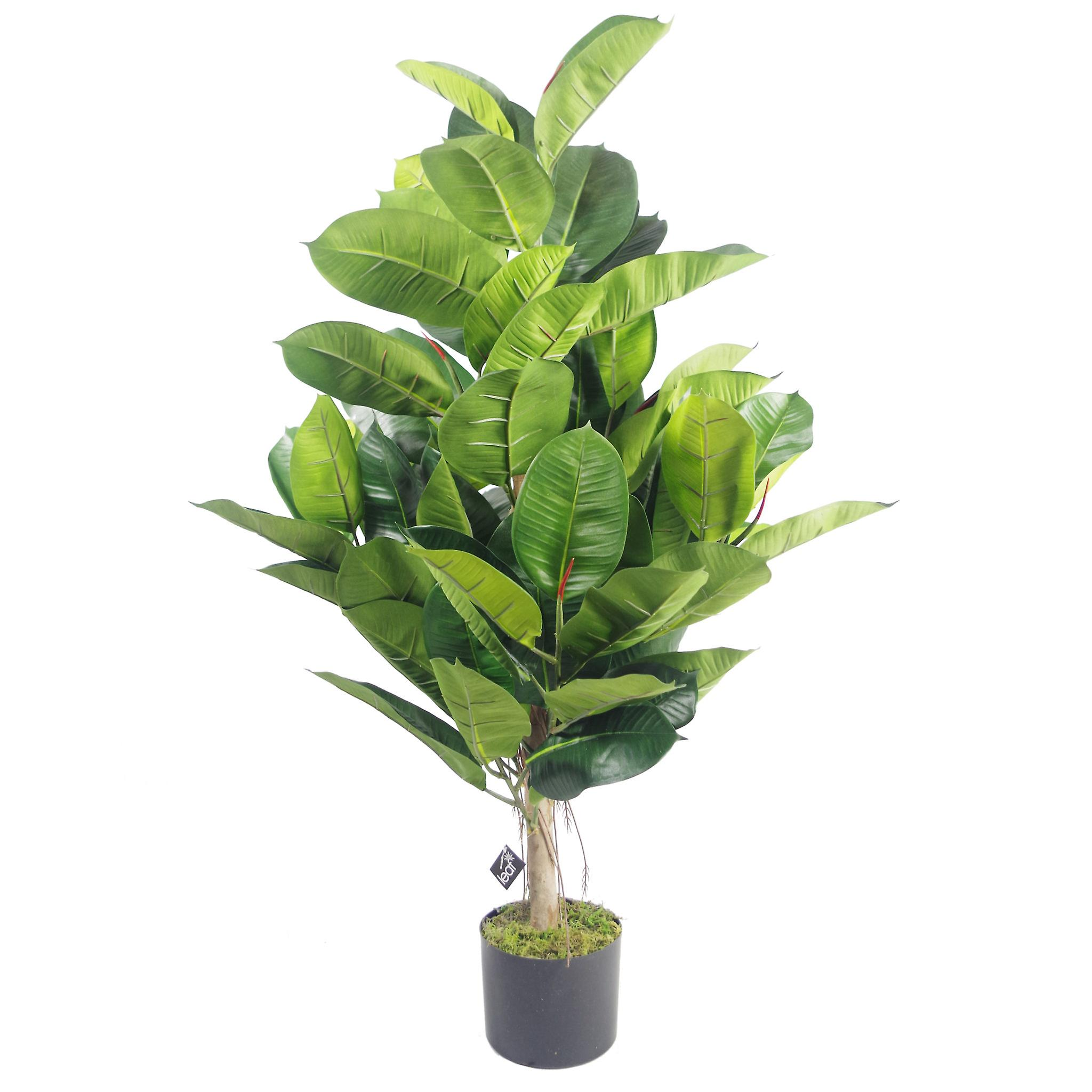 90cm Large Rubber Plant Artificial Tree Ficus Elastica