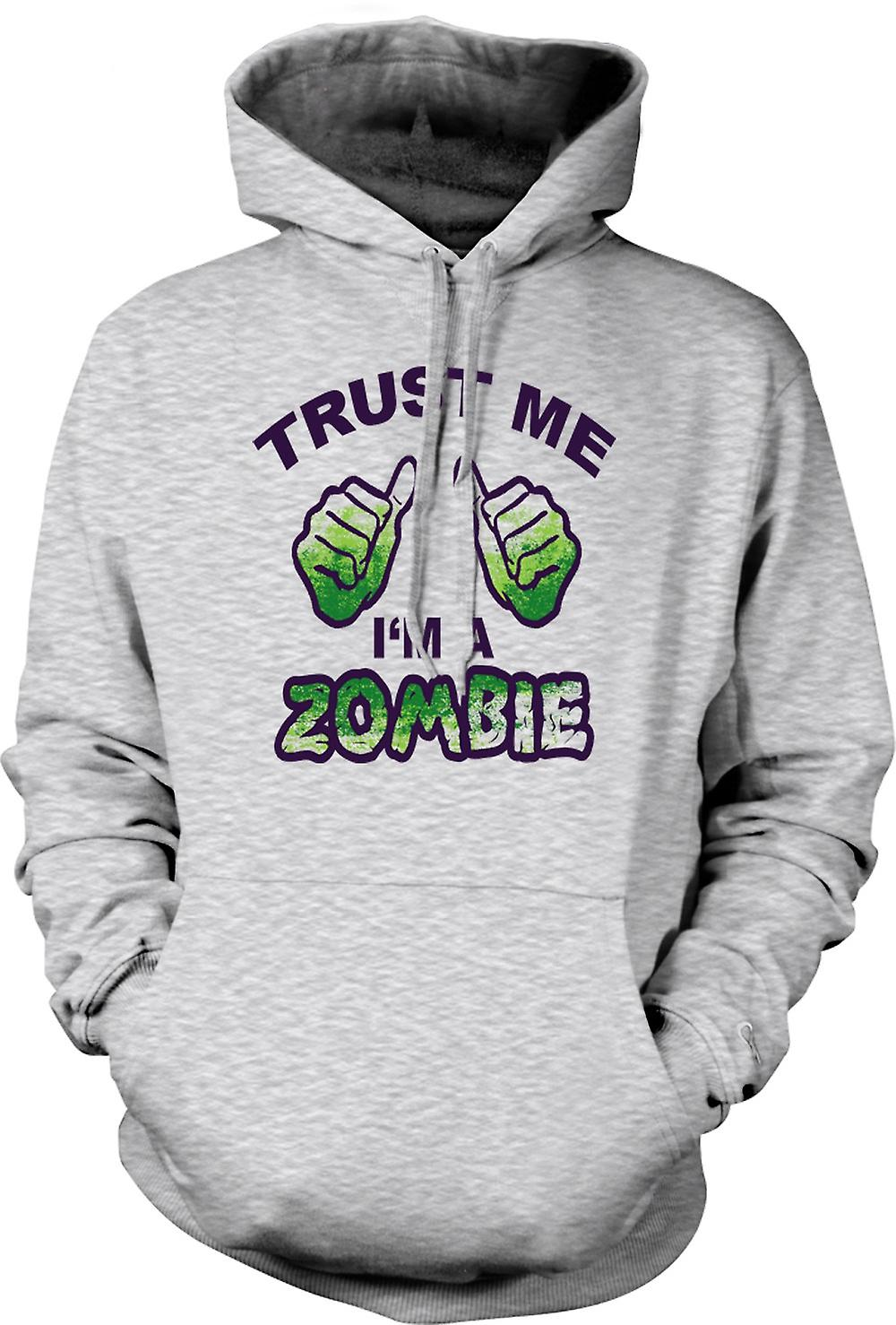 Mens Hoodie - Trust Me Im A Zombie - Funny