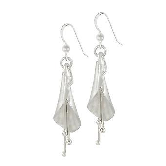 Eternal Collection Lily Sterling Silver Drop Pierced Earrings