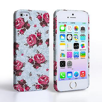 Caseflex iPhone 5 5S Vintage Roses Wallpaper Hard Case – Light Blue