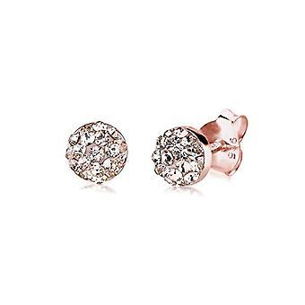 Elli Earrings women's pin in Silver 925 with White Crystal 0311781414
