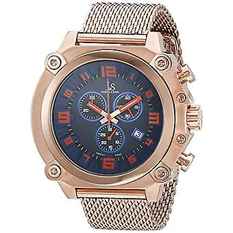 Joshua & Sons JS58RG quartz wrist watch, Analog, male, stainless steel, rose gold