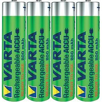 AAA battery (rechargeable) NiMH Varta Toy Akku 800 mAh 1.2 V 4 pc(s)