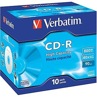 Blank CD-R 90 800 MB Verbatim 43428 10 pc(s) Jewel case