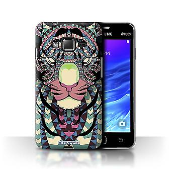 STUFF4 Case/Cover for Samsung Z1/Z130/Tiger-Colour/Aztec Animal