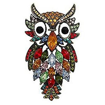 Butler und Wilson Multi Coloured Owl Brosche