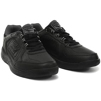 Gola Belmont WF Black Mens Wide Fit Trainers