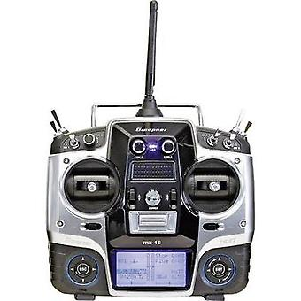 Graupner MX-16 Handheld RC 2,4 GHz No. of channels: 8 Incl. receiver