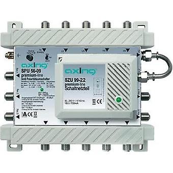 SAT multiswitch Axing SPU 56-09 Inputs (multiswitches): 5 (4 SAT/1 terrestrial
