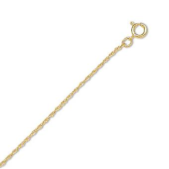 Sterling zilver 14/20 goud gevuld 1mm touw Chain ketting - lengte: 16 tot 24