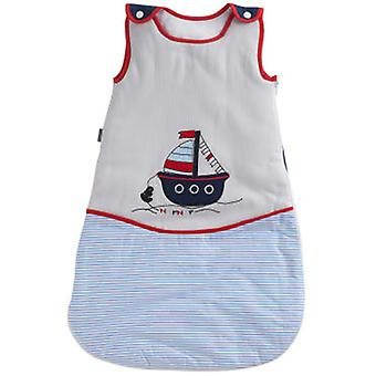 Naf Naf Nana 100% Cotton Embroidery Little Blue Boat