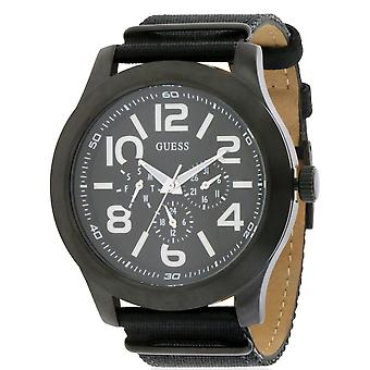 GUESS Rugged Black Fabric Chronograph Mens Watch W11623G1