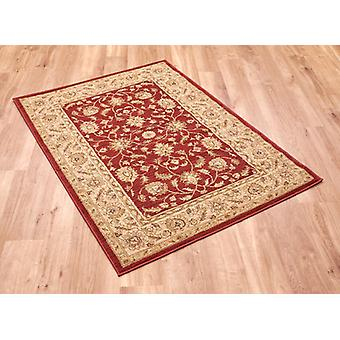 Ziegler 7709-Red Deep red ground with light beige border  Rectangle Rugs Traditional Rugs